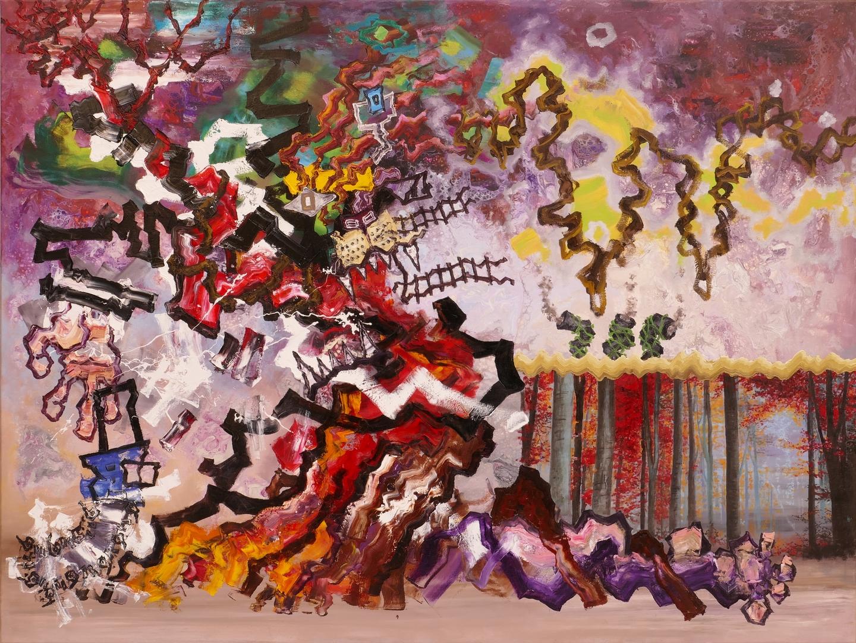 B, Koexistenz,120x160cm, Öl, Acryl auf Leinwand, 2020