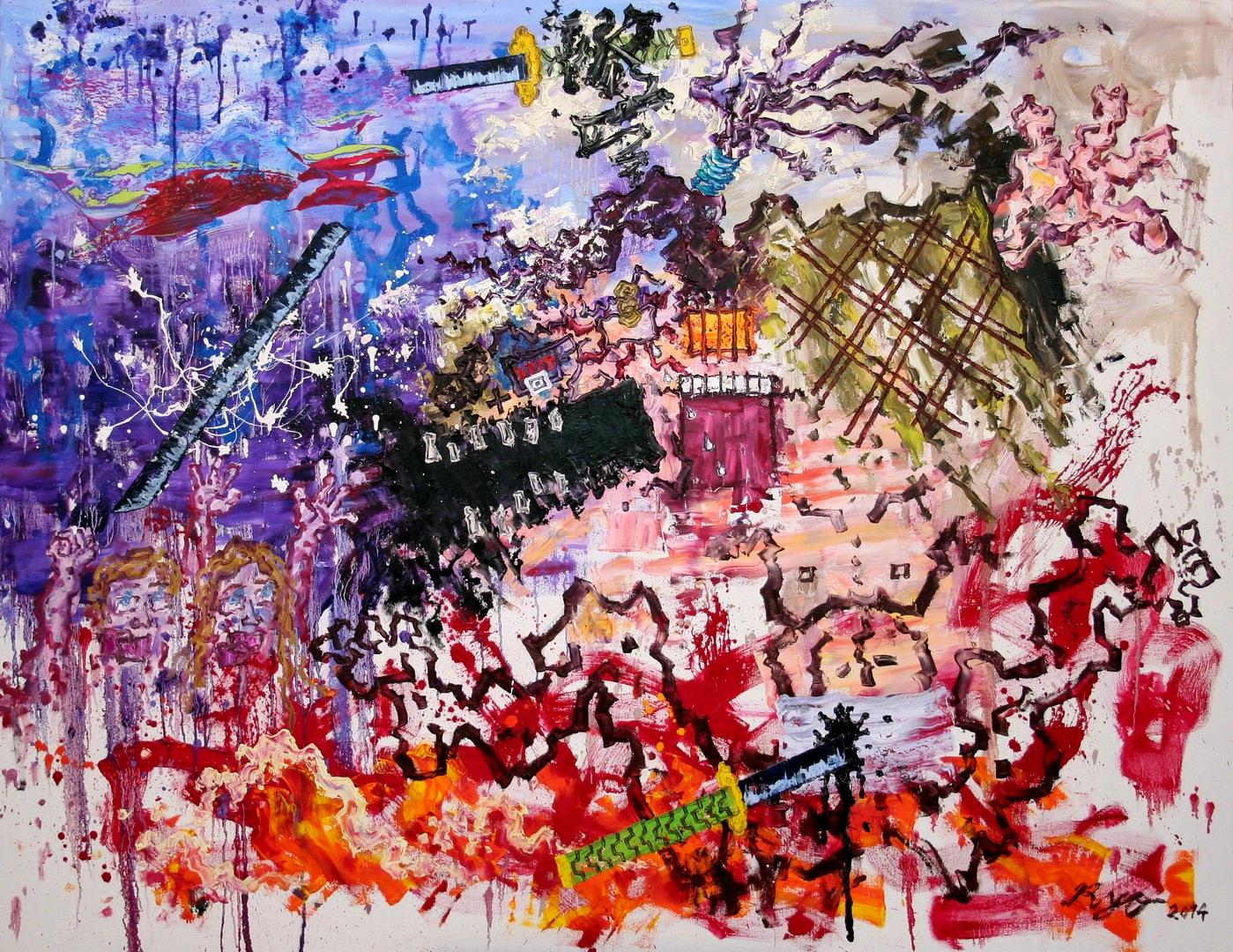 N,Das-Ende-eines-hartnäckigen-Samurais140x180cm2014