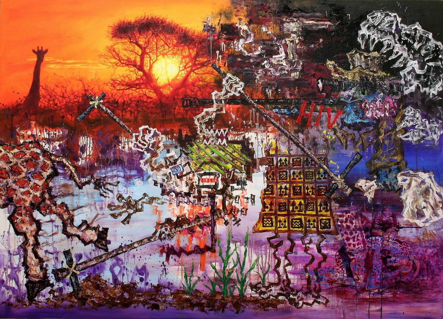 N,Die-Giraffen-steht-in-der-roten-Liste130x180cm2017