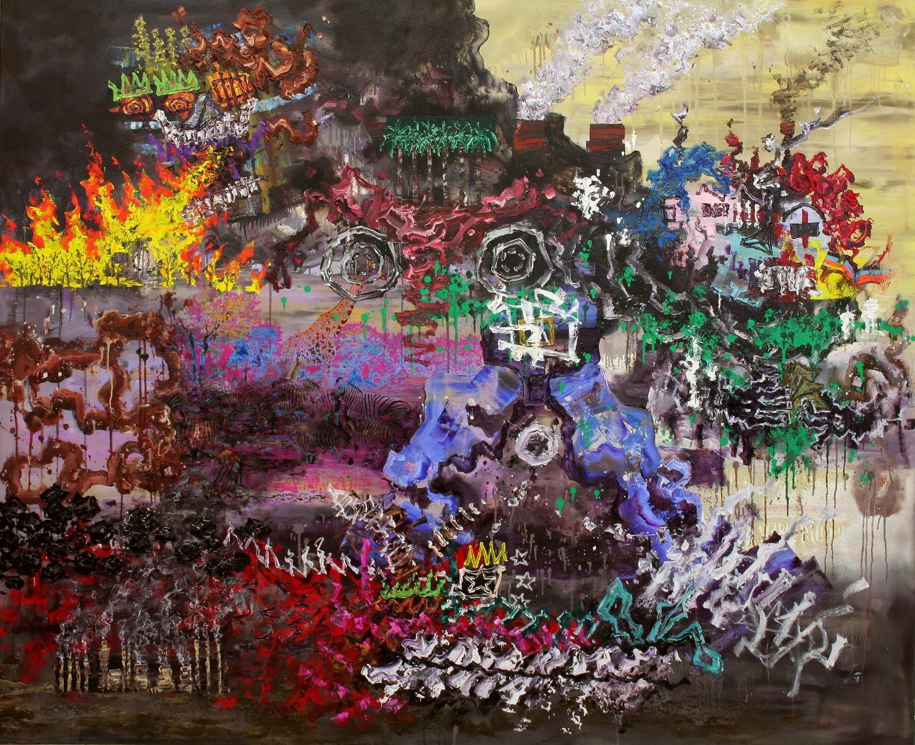 N,Die Globalisierung,155x190cm,2016