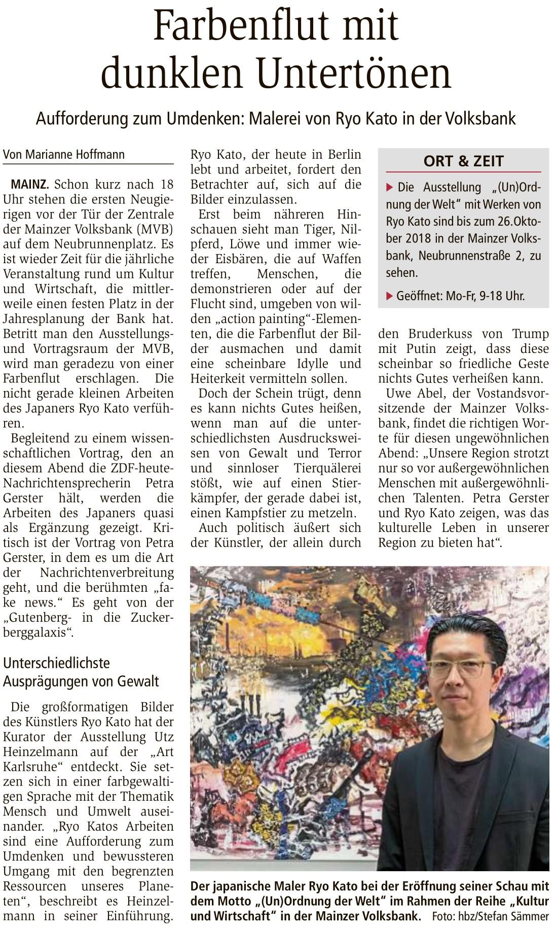 2018-09-21_Allgemeine_Zeitung_Mainz_Farbenflut_mit_dunklen_Untertoenen-2